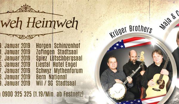 Krüger Brothers | Maja & Carlo Brunner » Fernweh Heimweh – TOURNEE VERSCHOBEN